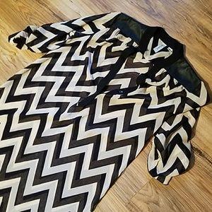 Dresses & Skirts - Chevron sheer dress